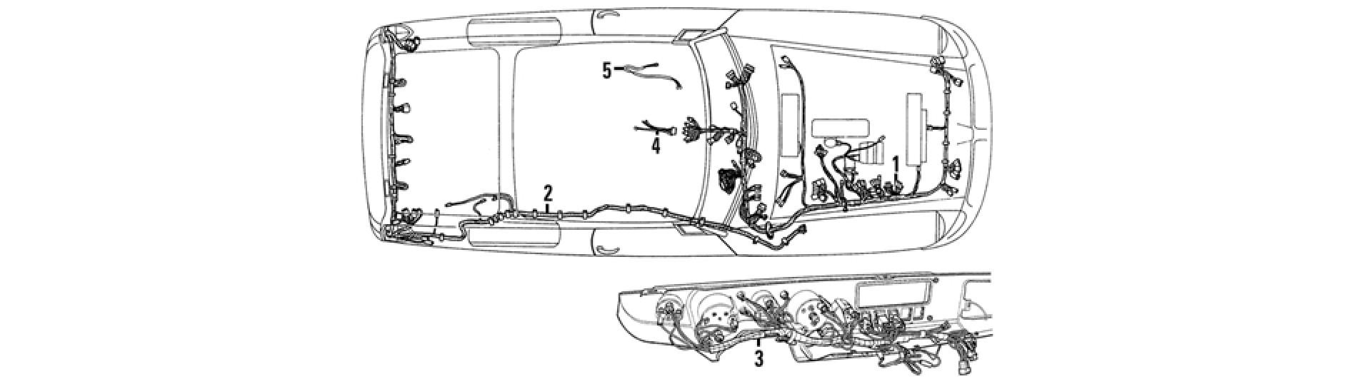 wiring harness - mgb & mgb gt (1962-80)  moss europe