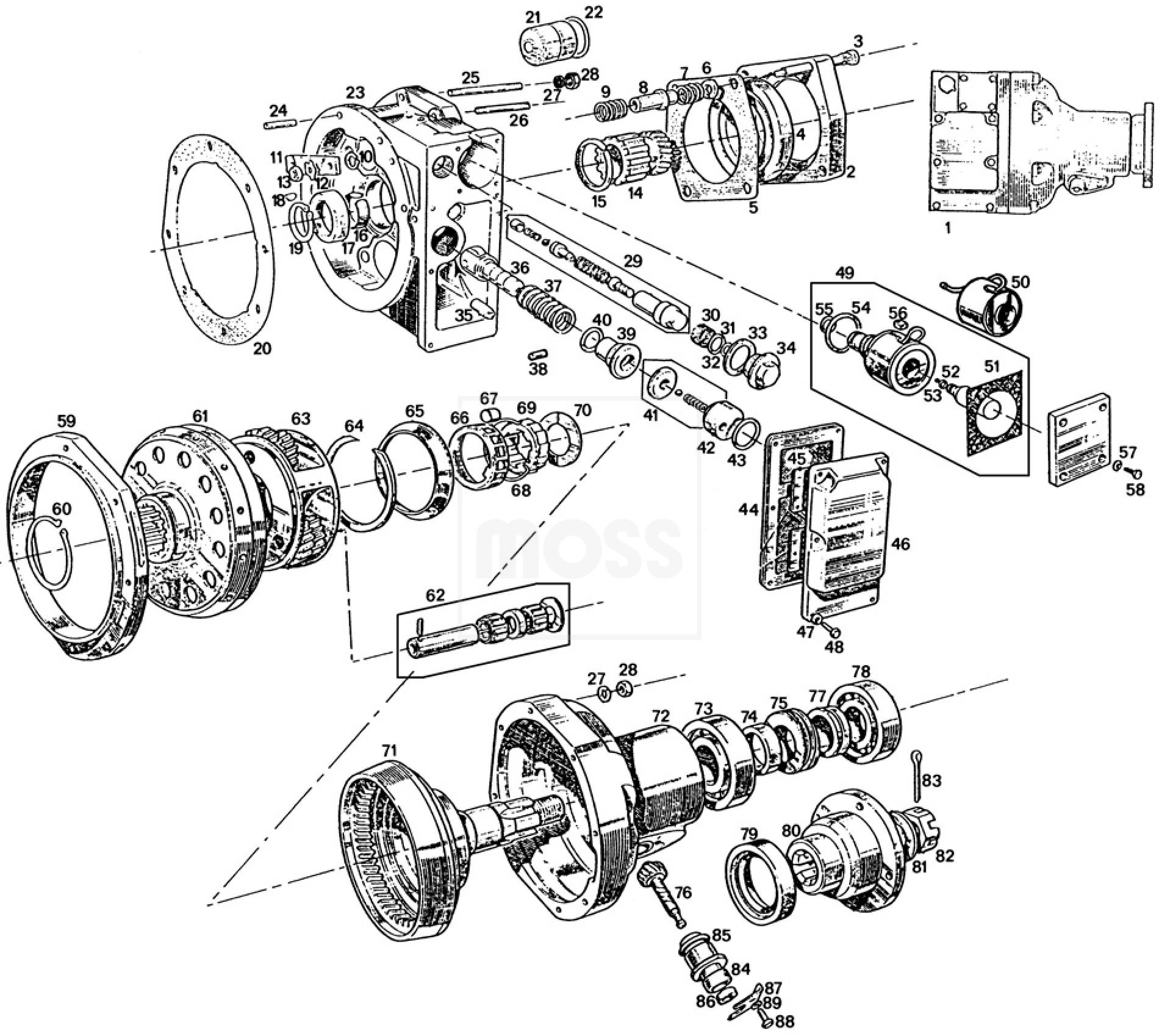 overdrive units  u0026 components  4 synchro