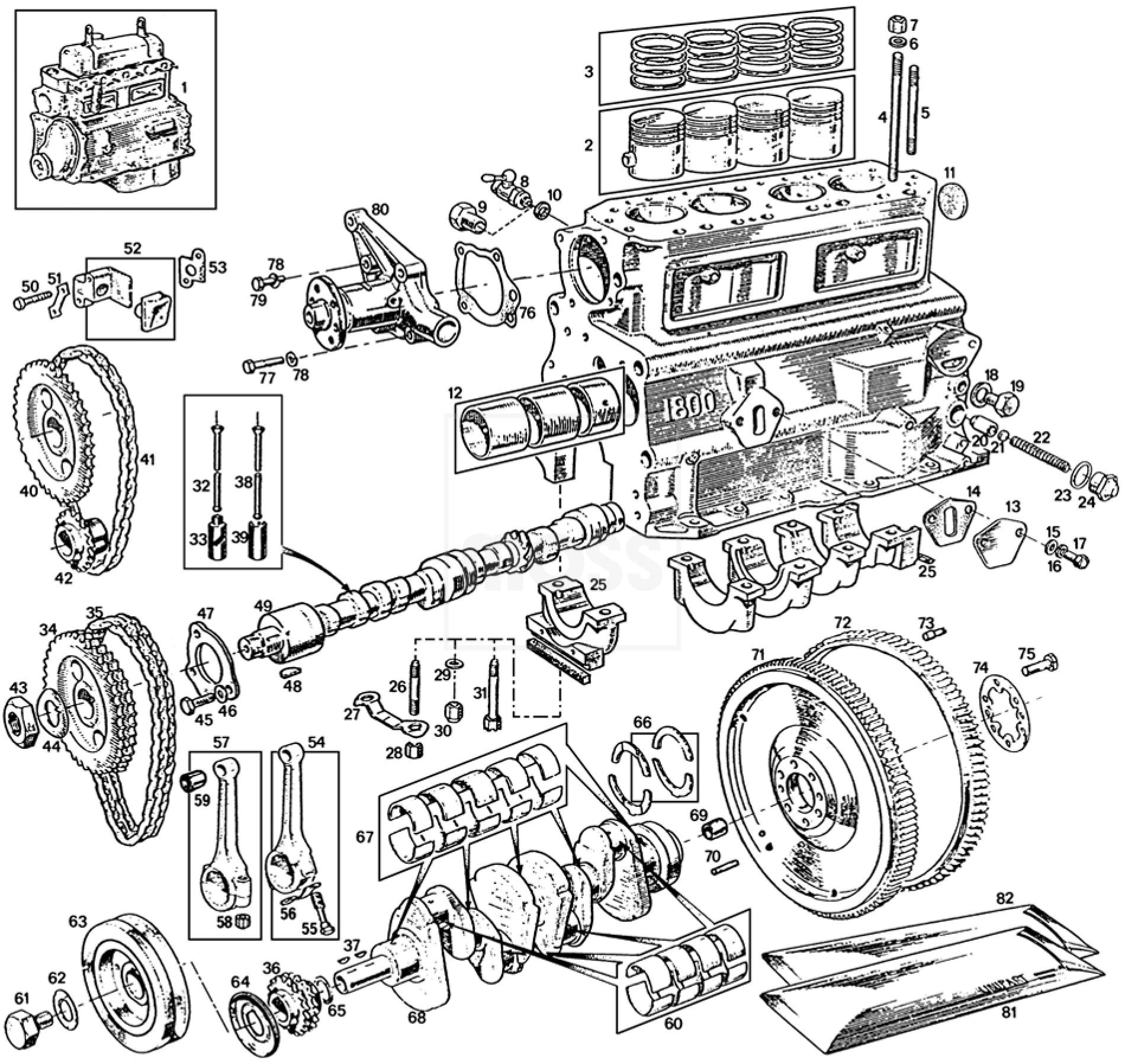 external  u0026 internal engine  5 main bearing  18gb-18v