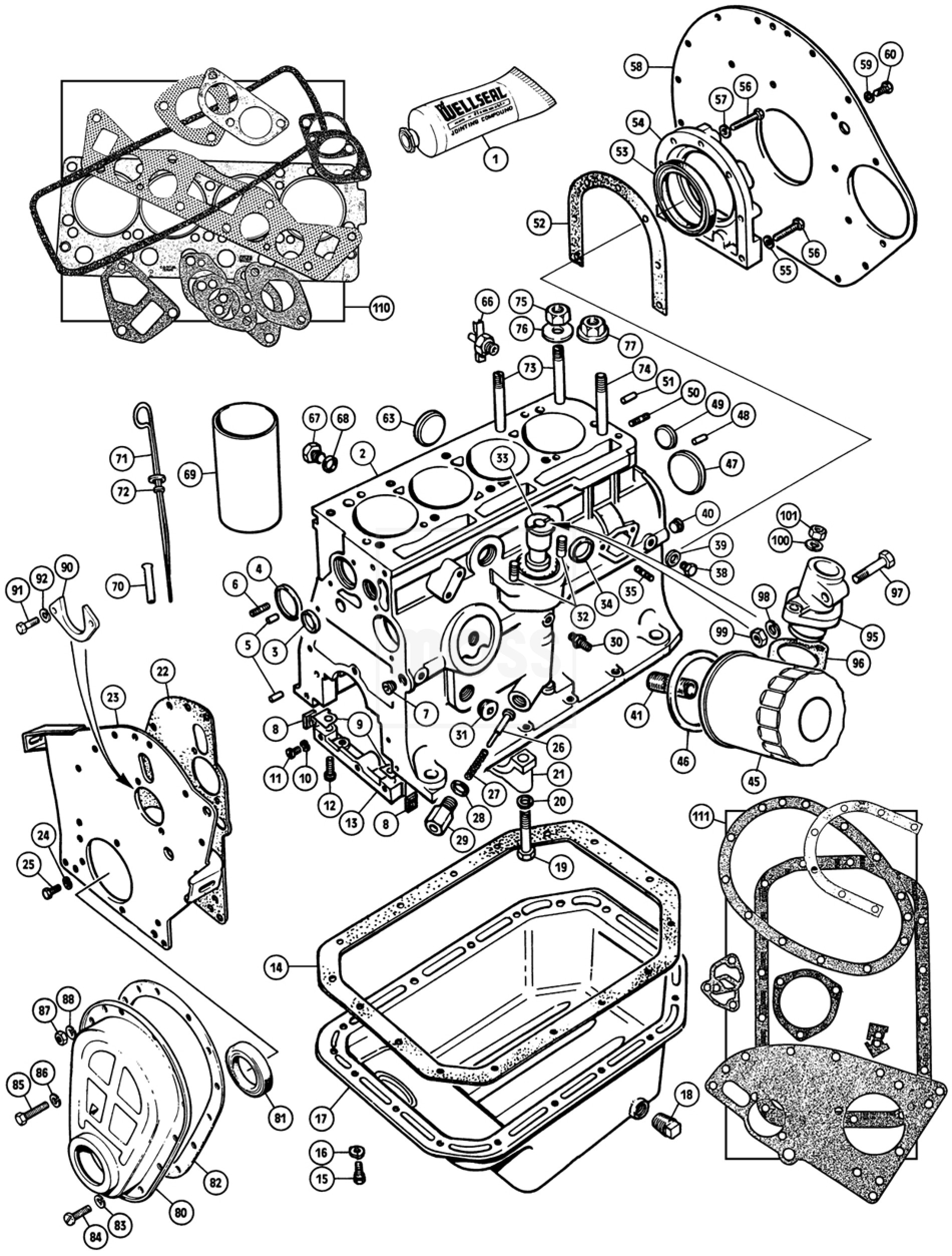 mg midget 1500 engine