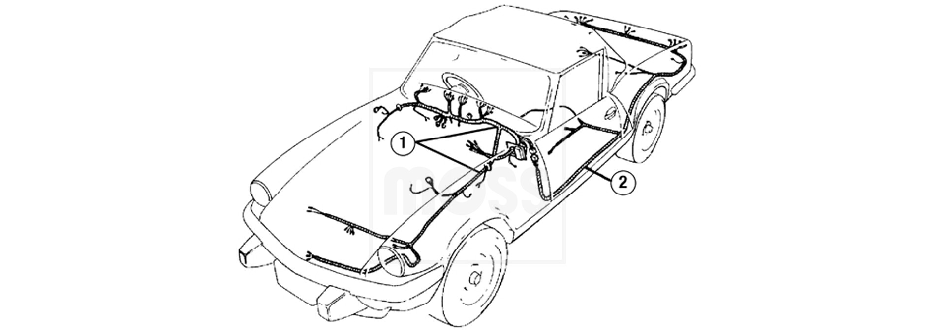 Main Body Wiring Harness Triumph Spitfire Electrical Diagrams Diagram 72 Gt6 Harnesses