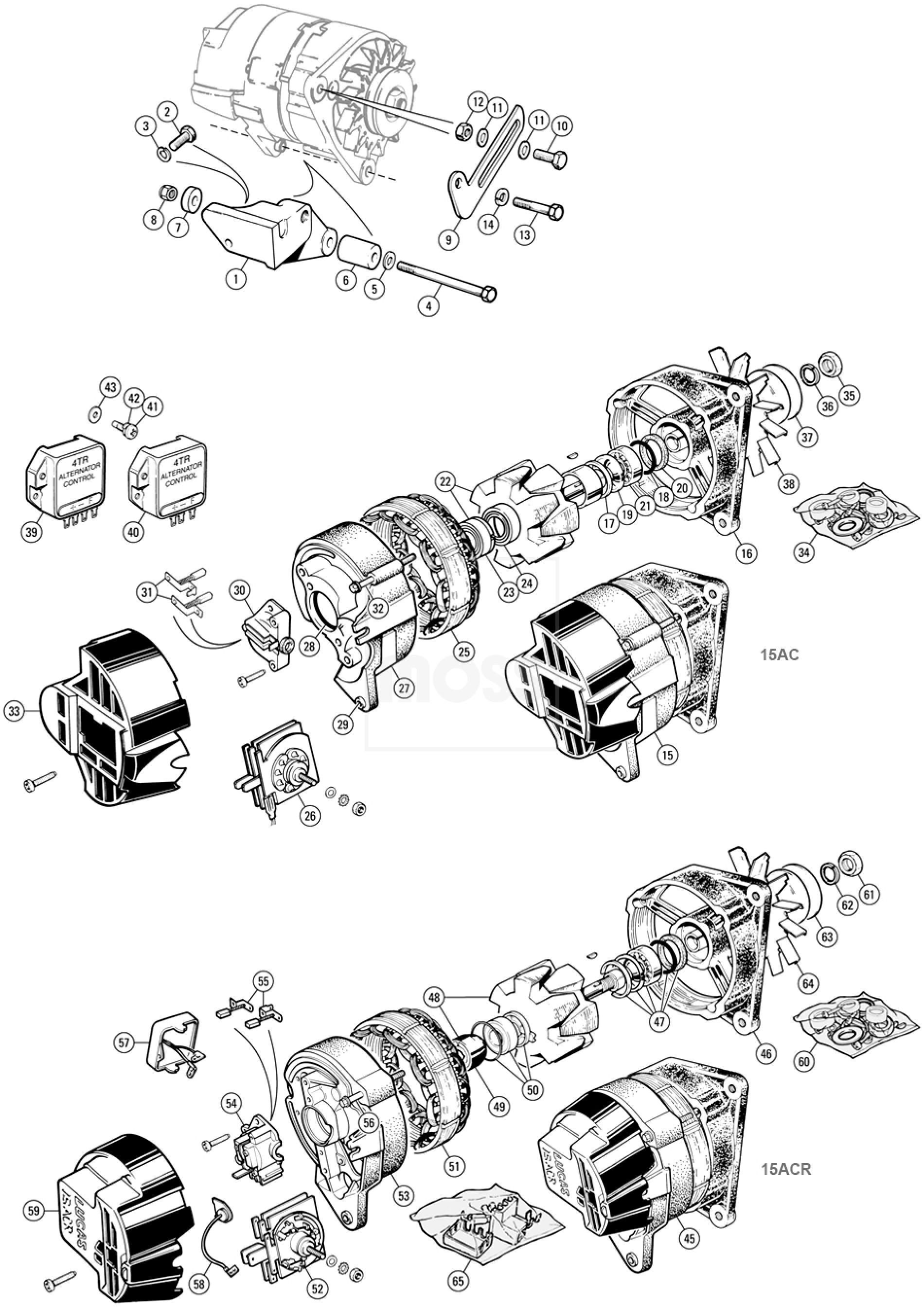 alternators  u0026 fittings  lucas 15ac  15acr