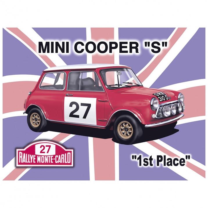 Mini Cooper S Vintage Metal Sign