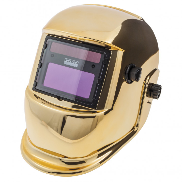 Welding Mask, arc activated, gold