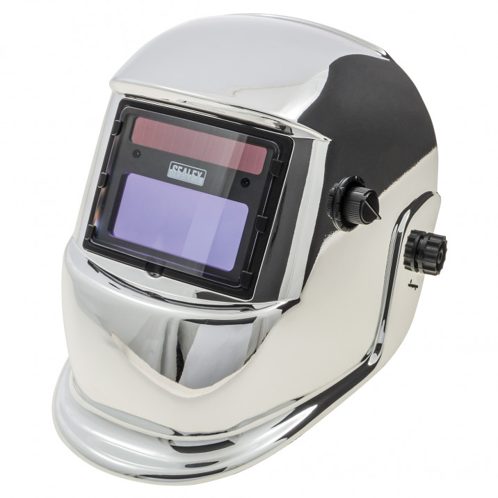 Welding Mask, arc activated, chrome