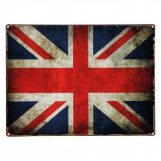 Sign, Union Jack, vintage, metal