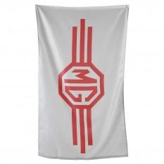 Flag, MG logo, grey/red