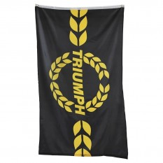 Flag, Triumph logo, black/yellow