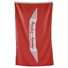 Flag, Austin-Healey logo, red/white