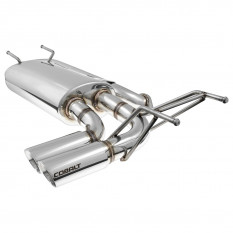 Silencer, exhaust, Cobalt, dual tip, stainless steel