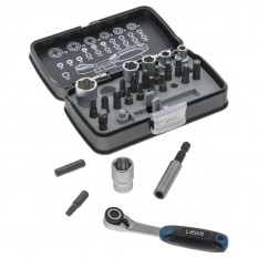 "Socket & Bit Set, 1/4"" drive, 26 piece"