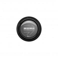 Button, horn, 2 contact, arrow gloss anthracite, MOMO