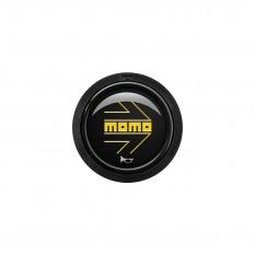 Button, horn, 2 contact, arrow gloss black, MOMO