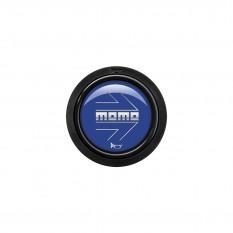 Button, horn, 2 contact, arrow gloss blue, MOMO