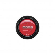 Button, horn, 2 contact, arrow gloss red, MOMO
