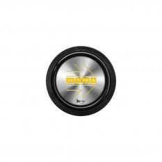 Button, horn, 2 contact, arrow chrome, MOMO