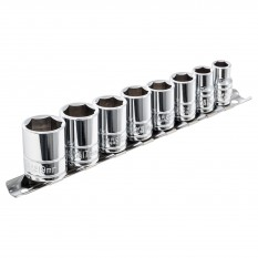 "Socket Set, Gripper, 3/8"" drive, 8 Piece, Metric"