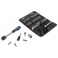Socket & Bit Set, 1/4D 37pc