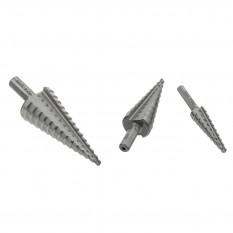 Step Drill Bit Set, metric, 4-30mm