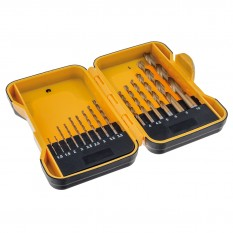 Drill Bit Set, HSS roll forged, 15 piece