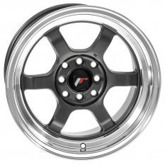 """Wheel, JR12, 15"""" x 8.5"""", ET13, gunmetal/polished lip"""