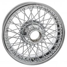 Wire wheel, chrome, 6 x 16 inch, 72 spoke, curly hub, MWS