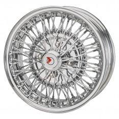 """Wire Wheel, chrome, 14"""" x 5.5"""", 72 spoke"""