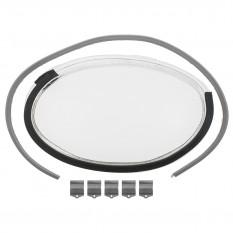 Headlamp Lens, glass, LH