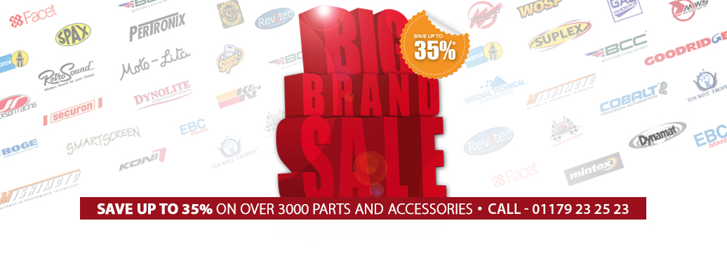 Save up to 35%* on over 3000 parts & accessories from our big name brands!